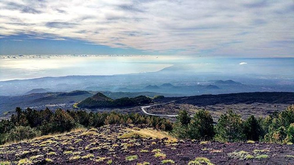 Etna...excursion..panoramic! Italy Sicily Catania Etna Mountain Volcano Excursion Great day Panoramic 180degrees Relax Stopnoises Wild Greatday Nature Nature lovers Downhill Trekking Awesomeplaces Green Trees Sea Mediterraneansea Eastcoast