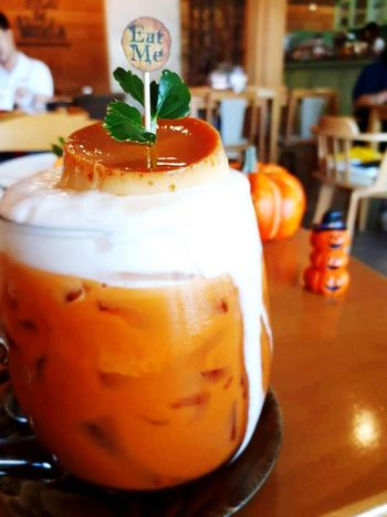 Thaitea Into The Woods Holloween Chiangmai Thailand Food And Drink ปากแดงชวนชิม Thai Chiang Mai | Thailand ThaiFoodGoodTaste Dessert Drink