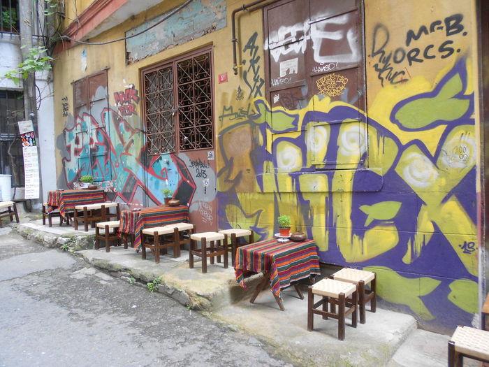 # #graffiti  #hanging Out #istanbul #nice #restaurant #smallchairs #sunset #sun #clouds #skylovers #sky #nature #beautifulinnature #naturalbeauty #photography #landscape #Turkey #turkey/istanb #veryswee