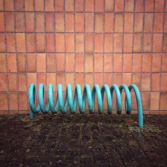 Hot wire Brick Wall No People Lichtenhagen Rostock Turquoise Minimalism Abstract