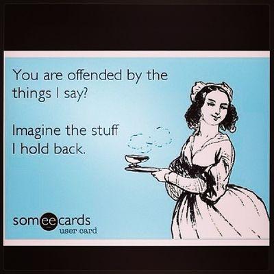 LOL. True! ?