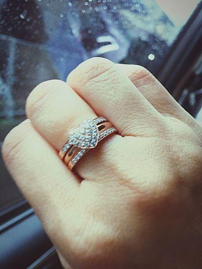 My new heart diamond ring Ring Diamond Ringng photos]se gold] Handmade Jewellery Special Design Heart Ring