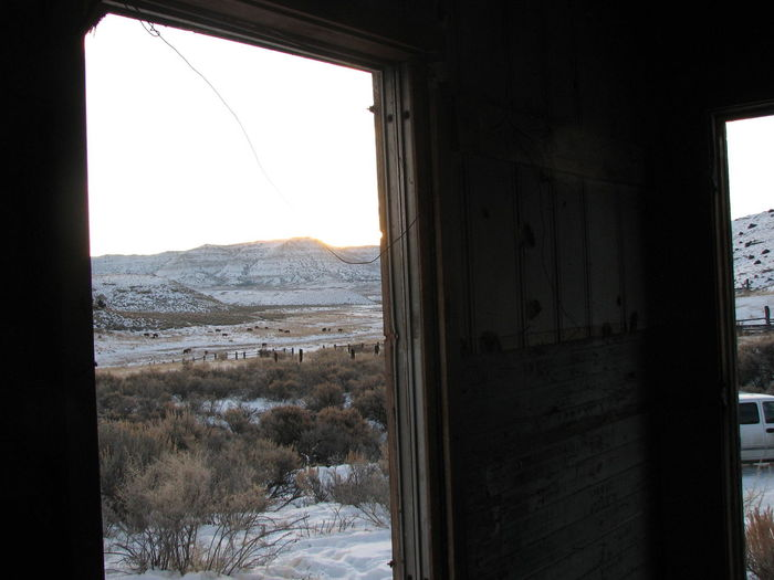 Showcase: January The View From My Window Window Windows Light And Shadow Winterscapes Secluded  Fresh Air... Mountains And Sky Wyoming United States