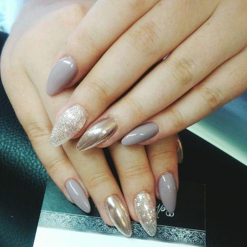 Nails On Fleek Glitter Grey Mirrornails Chrome