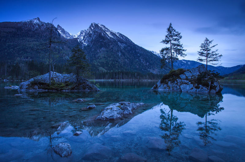 Landscapes from Bavarian Alps, Germany - Europe. Alpine Alps Bavaria Bavarian Alps Bavarian Landscape Beauty In Nature Blue Dark Europe Forest Germany Lake Landscape Mountain Nature Night Photography Pinaceae Reflection Scenics Tourism Travel Destinations Tree Water