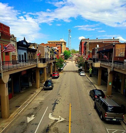 City Building Exterior Architecture Sky Cloud - Sky City Street Street Built Structure Transportation Outdoors Travel Destinations Mode Of Transport City Life The Way Forward Day Cityscape No People Morristown Tn The City Light
