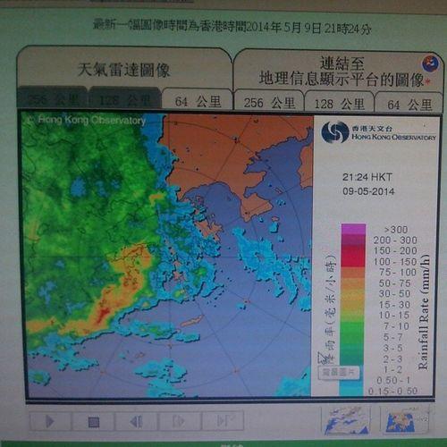 唔係又紅黑紅紅黑呀? Hkig 2014 Hko Rainstormwarning 暴雨警告 紅黑紅紅黑 天文台