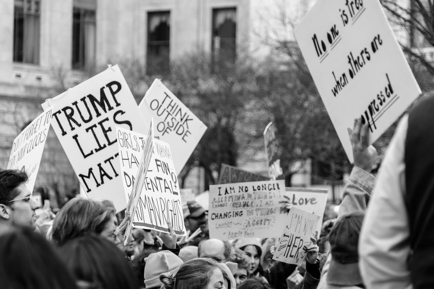 2017 D.C. Democracy Patriotism President Protest The Photojournalist - 2018 EyeEm Awards The Troublemakers Washington Adult Aggression  Anger Architecture Banner - Sign Building Exterior City Civil Disobedience Communication Crowd Democracy Demonstration Group Of People Large Group Of People Mass Men Message National Mall Placard Protest Protestor Real People Script Speak Truth To Power Speak Up Against Injustice Street Text Western Script Women Women's March