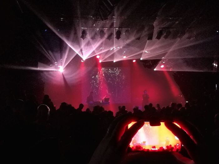 Red People Disco Fan - Enthusiast Popular Music Concert Audience Nightclub Illuminated Crowd Performance Group Nightlife Musician Disco Lights Stage Light Concert Stage Live Event Concert Hall  Music Concert