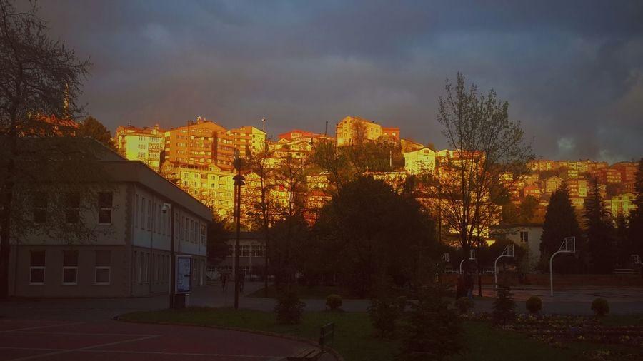 Sun On The City University Zonguldak Looking To The Other Side OpenEdit Clouds Akşamüzeri Sky Buildings Vscocam