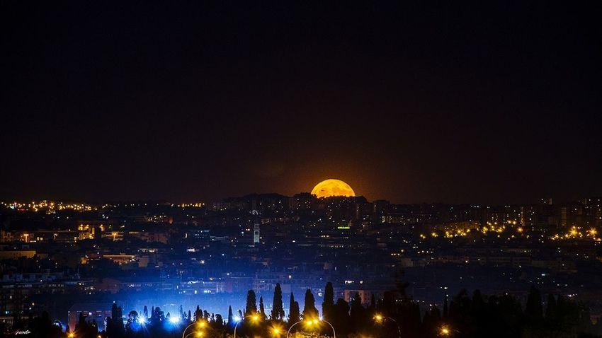 Night Illuminated Madrid ❤ City Street Madrid,spain Urban Skyline Cityscape Madrid Taking Photos