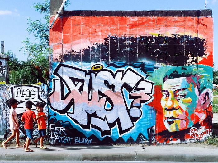 Change is coming. Duterteforpresident Rodrigo Duterte Streetphotography Street Art Streetphoto_color Wall Art Street Color Davao City EyeEm Best Shots Eyeem Philippines