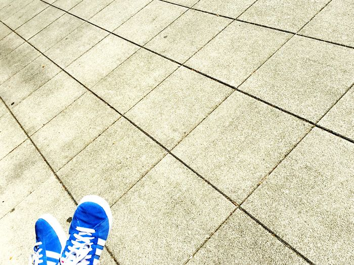 Cobalt Blue By Motorola Streetphotography People Sneakers Fashion Shoes Street Fashion Vanishing Point Out Of The Box