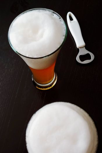 Beer IPA Indian Pale Ale Black Background Frothy Drink Drink Alcohol Drinking Glass Table Coffee - Drink Latte Beer - Alcohol Close-up Froth Art Froth Beer Beer Glass Beverage Lager Pint Glass Foam Alcoholic Drink