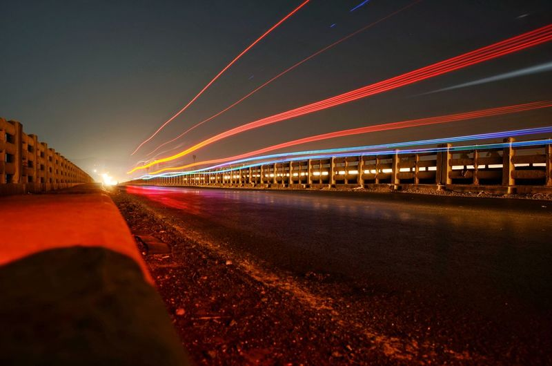 Painting the air with dslr is so much fun Night Light Trail Illuminated Long Exposure Road Speed Multi Colored Transportation No People Red Outdoors Travel Destinations Landscape Theimaged LandscapeCollection Compositionkillerz The Great Outdoors - 2017 EyeEm Awards Longexposurephotography Longexpoelite MyDarkShot Night Photography Long Exposure Shot Longexposure Long Exposure Night Photography
