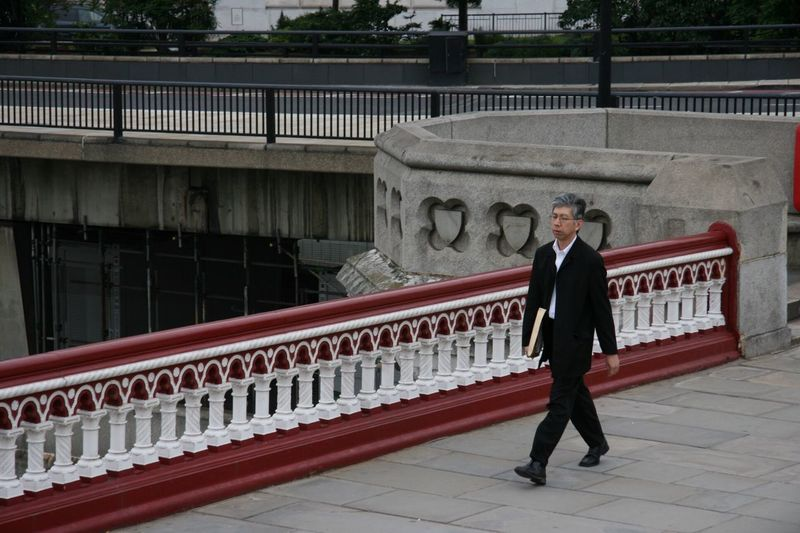 Railing One Person Portrait Full Length Standing Looking At Camera Architecture Bridge - Man Made Structure One Man Only Architectural Column Real People Outdoors Only Men Adults Only Day Politics And Government Adult Young Adult People EyeEm LOST IN London Vip
