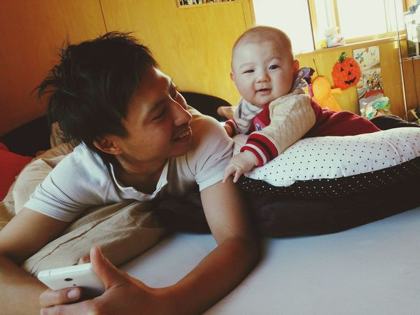Daddyandbaby 父と息子 親子 Love Happy Enjoying Life Cute My Baby Babyboy Baby Boy