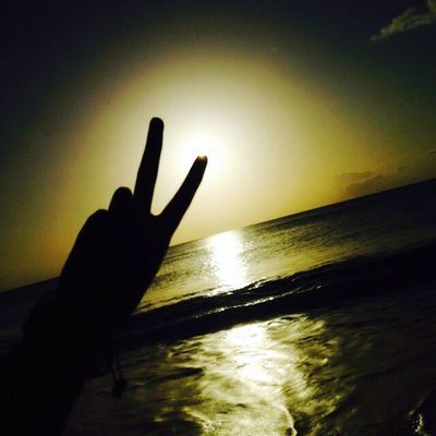 Peace Sunset Cool Lovethis Beach Water Beautiful Awesome