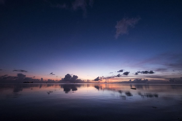 Beauty In Nature Cloud - Sky Day Nature Outdoors Reflection Saipan Sky Sunset Water