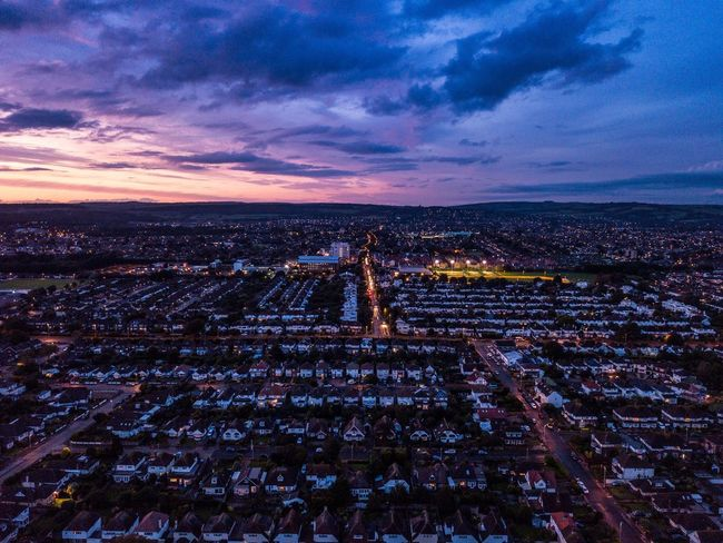 Goringbysea Worthing Uk England Westsussex Sussex Sunset Clouds City Drone  Dronephotography Dji