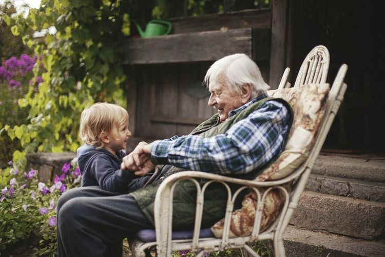 Two People Togetherness Greatgranfather