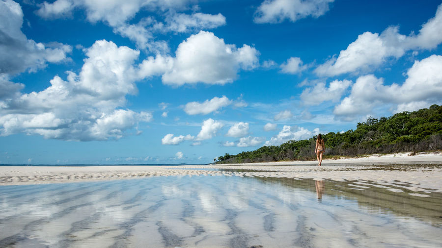 Australia Beach Blue Blue Sky Clouds Clouds And Sky Cloudscape Fraser Island Girl Landscape Landscape_Collection Landscape_photography Landscapes Landscapes With WhiteWall Nature Ocean Reflection Reflections Sky Blue Wave