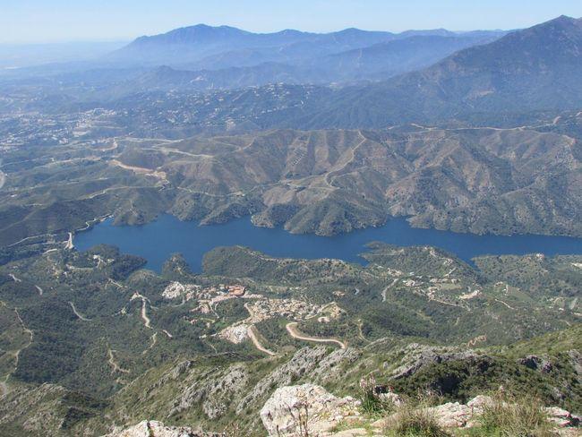 Vista de la costa del sol desde La Concha 1300 metros de altura!!! Mountain Nature Outdoors Beauty In Nature