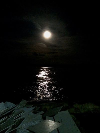 Enjoy The New Normal No People Tranquility Water Scenics Night Moon Tranquil Scene Outdoors Sky Sea