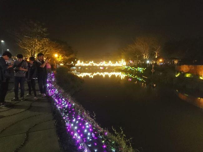 Celebration Large Group Of People Reflection Night Outdoors Sky Illuminated People