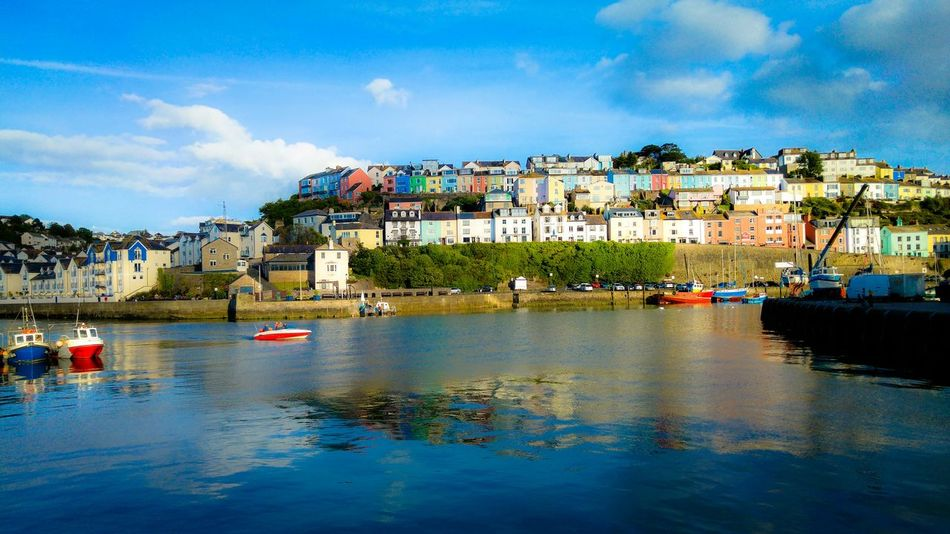 Brixham  Harbour Water Britain Colours