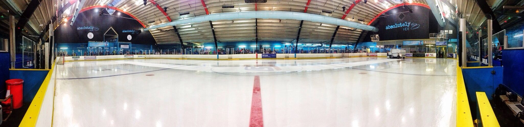 Waiting for the second period. Slough Slough Jets Zamboni Ice Hockey Photography #panoramic