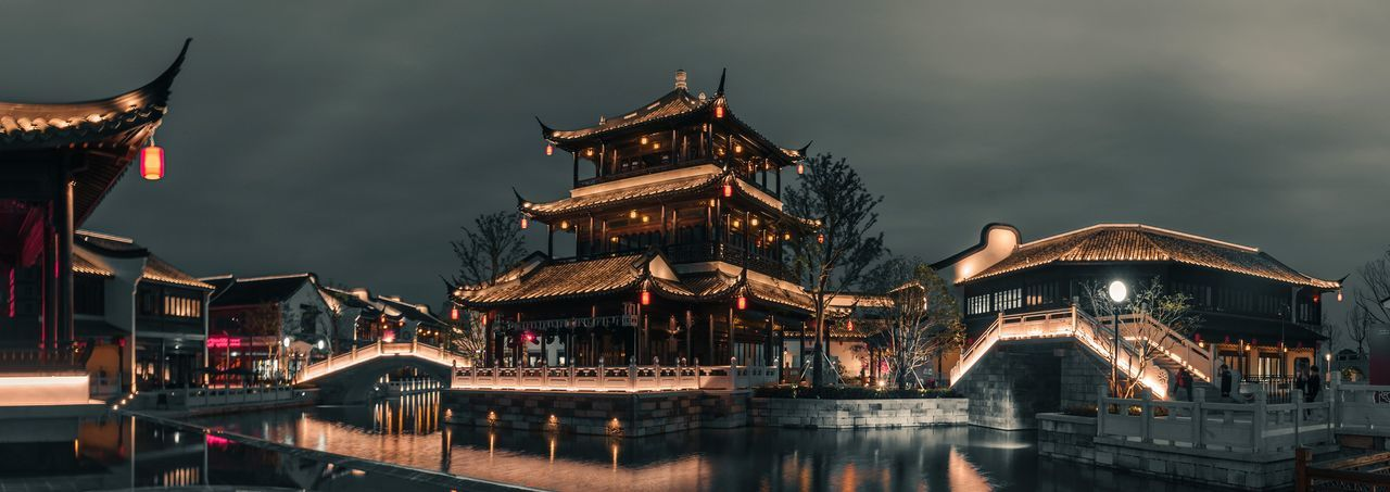 Night Travel Destinations Arts Culture And Entertainment Architecture Outdoors City Cityscape Jiashan Zhejiang Province Nightphotography