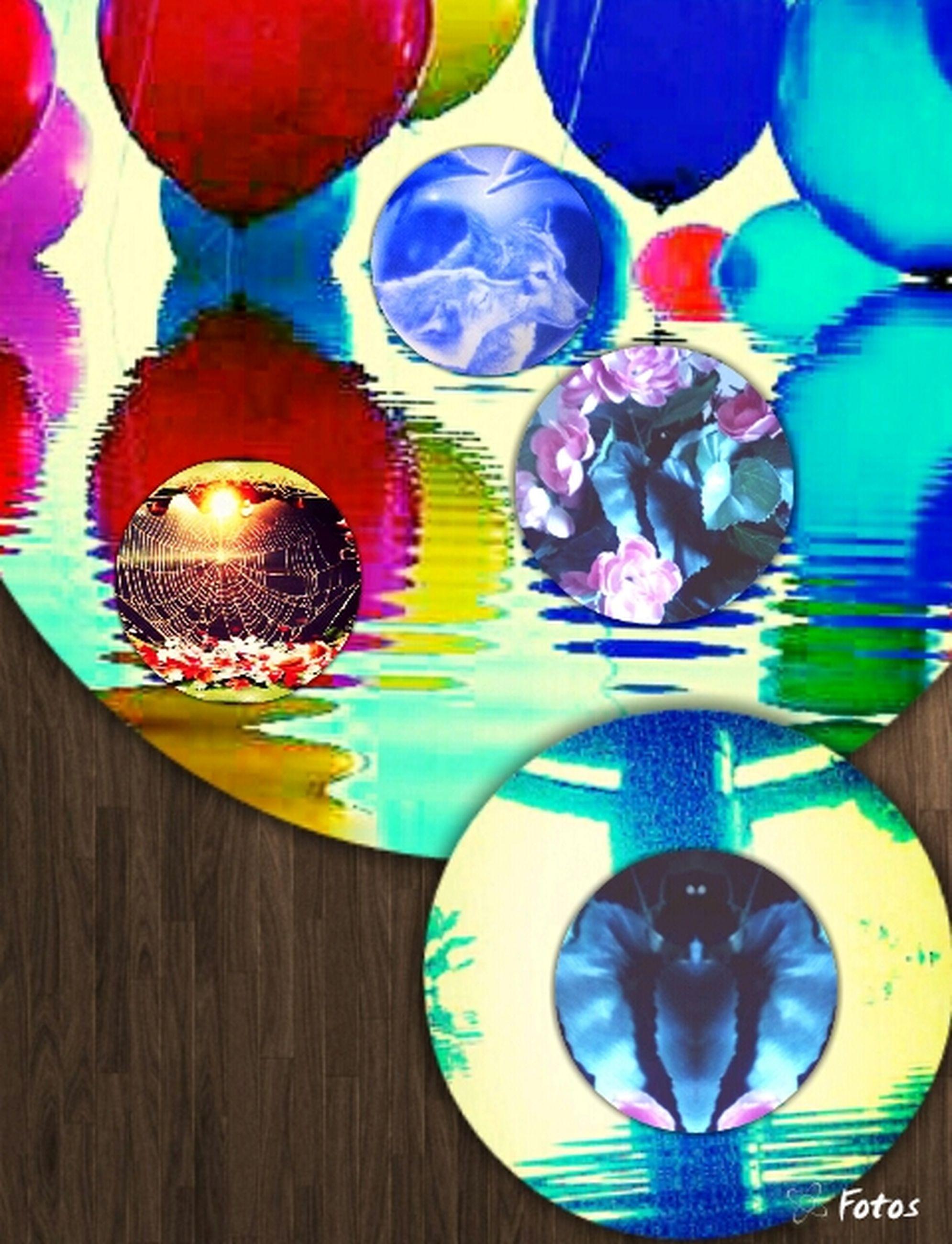 multi colored, indoors, decoration, colorful, pattern, art and craft, sphere, still life, circle, creativity, variation, blue, art, design, low angle view, celebration, no people, close-up, lighting equipment, geometric shape