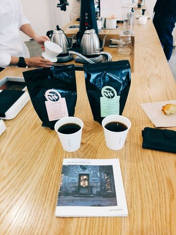 Filter coffee at Catalyst Coffee. Cafe Coffee Coffee - Drink Coffee Break Coffee Cup Coffee Shop Coffee Time Day Drink Filter Coffee Food And Drink Human Body Part Human Hand Indoors  Pourover Real People Table Vscocam