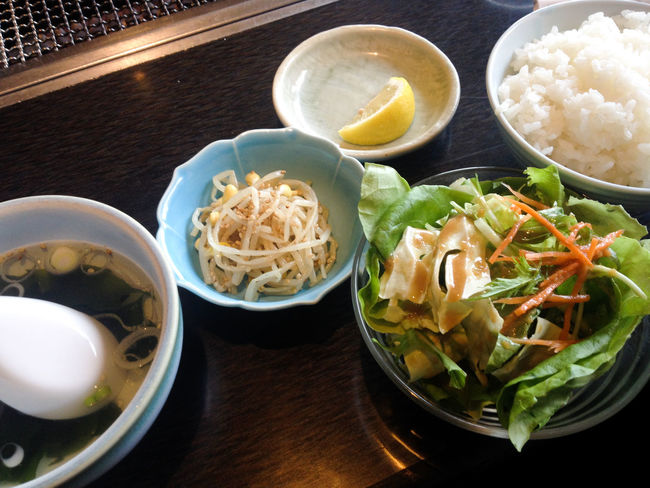 A Taste Of Life Bowl Close-up Delicious Dishes Eat Food Food And Drink Foodie Freshness Healthy Eating Indoors  Japanese Style Lemon Onthetable Pickles Ready-to-eat Restaurant Rice Salada Set Meal Soup Variation Yakiniku Yummy