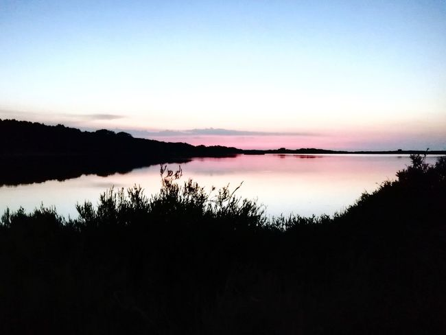 Sunset Salt Basin Silhouette Salt - Mineral Sunlight Desert Romantic Sky Calm Reflection Lake