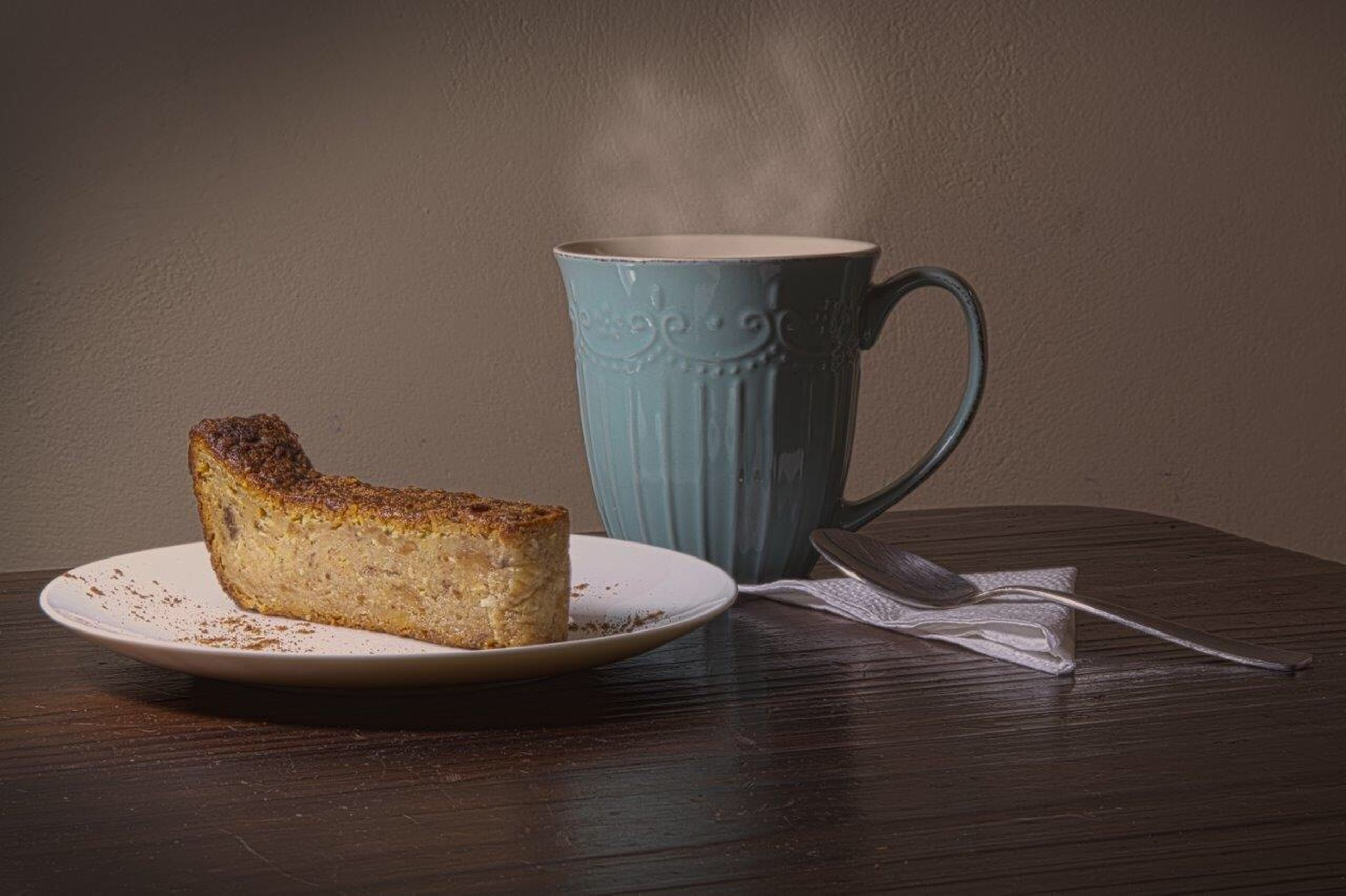 food and drink, coffee cup, bread, table, plate, indoors, coffee - drink, freshness, no people, breakfast, food, drink, healthy eating, close-up, day, ready-to-eat