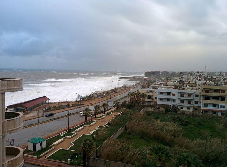 Jableh's Corniche /storm 06/01 /2015