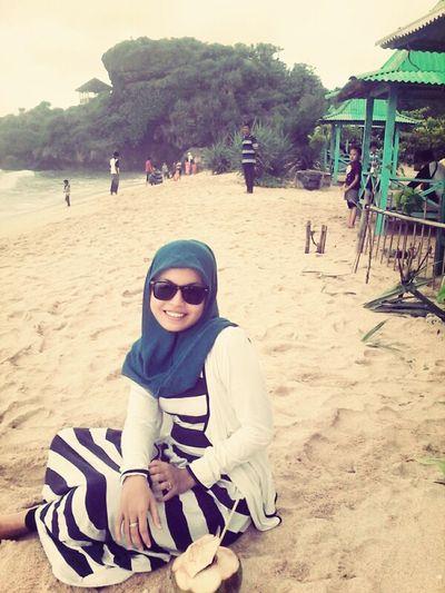 On A Holiday Beautiful Beach