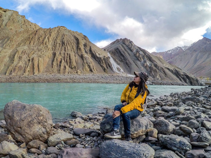 Leh Ladakh autumn mood October Beauty In Nature Cold Temperature Day Young Women Sky Mountain Landscape Nike