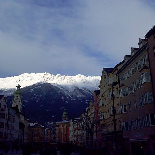 Architecture Mountain Building Exterior Snow Built Structure Winter Cold Temperature No People Mountain Range Snowcapped Mountain Day Residential Building Sky Outdoors Nature Beauty In Nature EyeEmNewHere Shades Of Winter