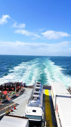 Sea Water High Angle View Transportation Nautical Vessel Horizon Over Water Outdoors No People Day Business Finance And Industry Sky Nature Beach Boat Deck Wave EyeEmNewHere