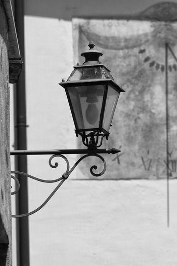 Street lamp with a sundial in the background Italia Liguria,Italy Street Lamp Toirano Lampione Liguria Meridiana Sol Sun