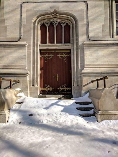 Gold Accent #travel Brooklyn Olddoors Wooddoors School Door Door Cold Temperature Architecture Outdoors