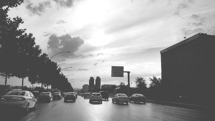 Ankara - Eskişehir yolu Car City Skyscraper Traffic City Street Building Exterior Street Outdoors Cloud - Sky Architecture Sunset Yellow Taxi Road No People Urban Skyline Day Sky Tree Ankara Türkiye The Week On EyeEm Blackberry Priv EyeEmNewHere Eyeemphotography Blackandwhite