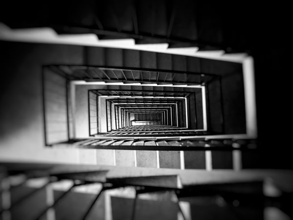Suicidal Tendencies Sucide Point Suicide Stairs Black And White Black & White Building Blackandwhite Monochrome EyeEm Gallery EyeEm Best Shots Upstairs Staircase Steps And Staircases Spiral Steps Railing Architecture Spiral Stairs EyeEmNewHere