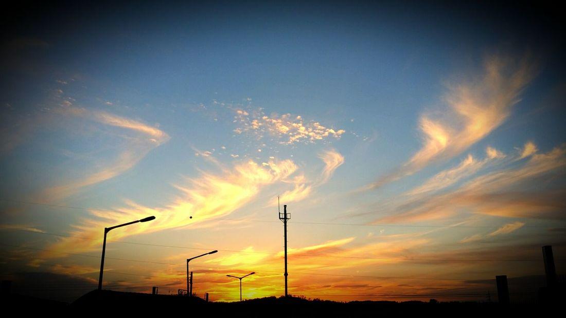 Sontang... Beatiful sun set... Sunset Sky Songtan Evening Sky Cloud Orange Color Low Angle View Beauty In Nature Sun Outdoors