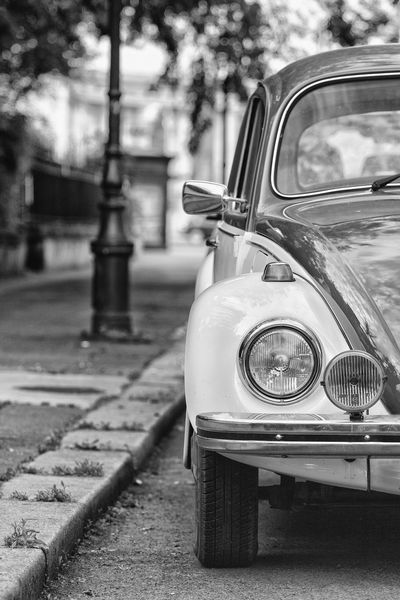 Blackandwhite Car Cars Hungary Old Old-fashioned Part Of Street VW VW Beetle