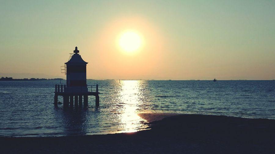 Water Sea Sunset Beach Silhouette Sunlight Lighthouse Reflection Sun Sky