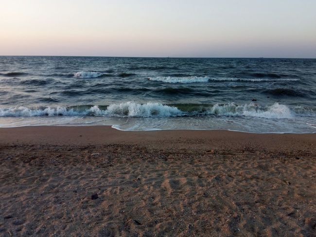 Sea And Sky Azov Sea Horizon Over Water Beach Water Outdoors Beauty In Nature Travel Destinations No People Vacations